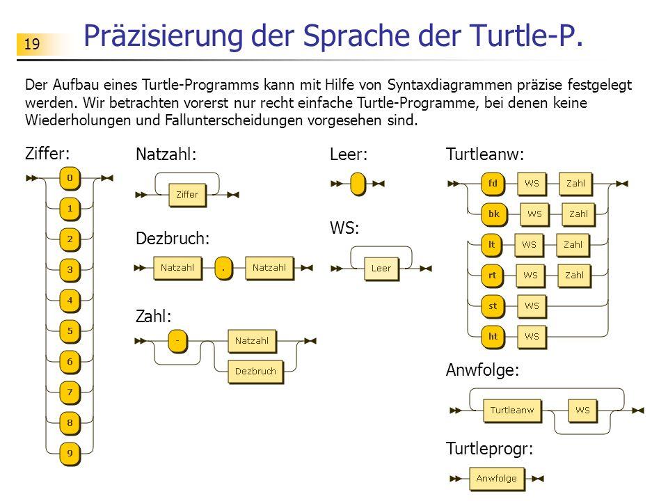 Präzisierung der Sprache der Turtle-P.