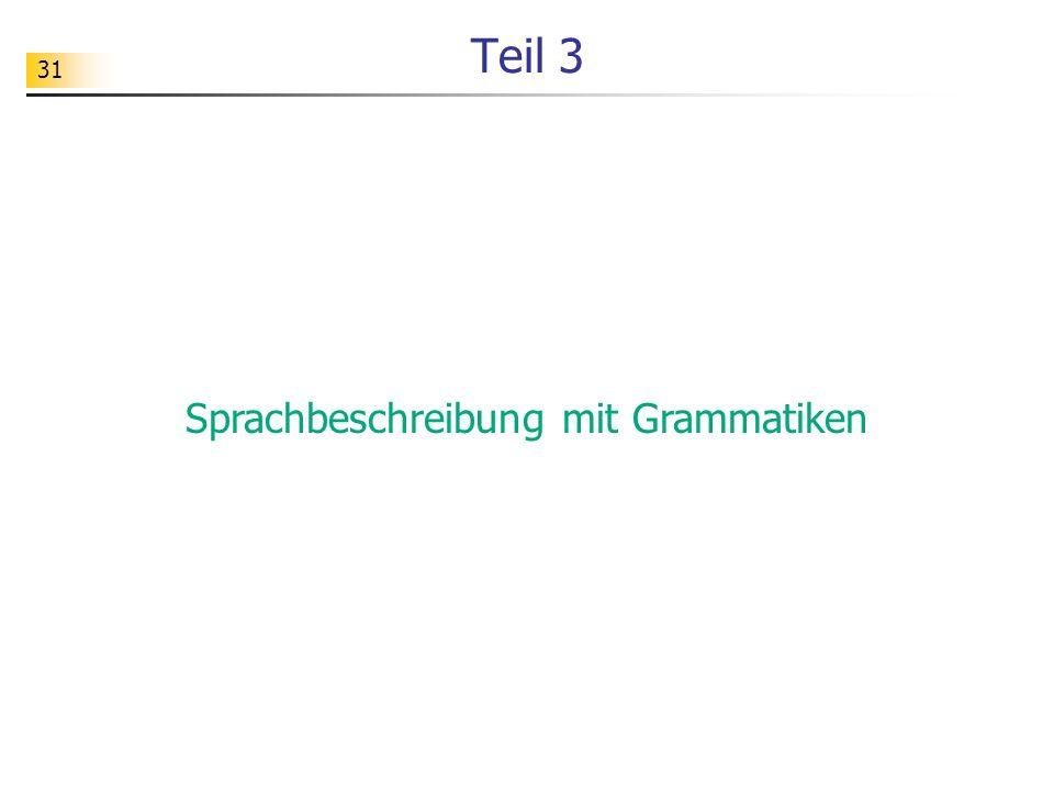 Sprachbeschreibung mit Grammatiken