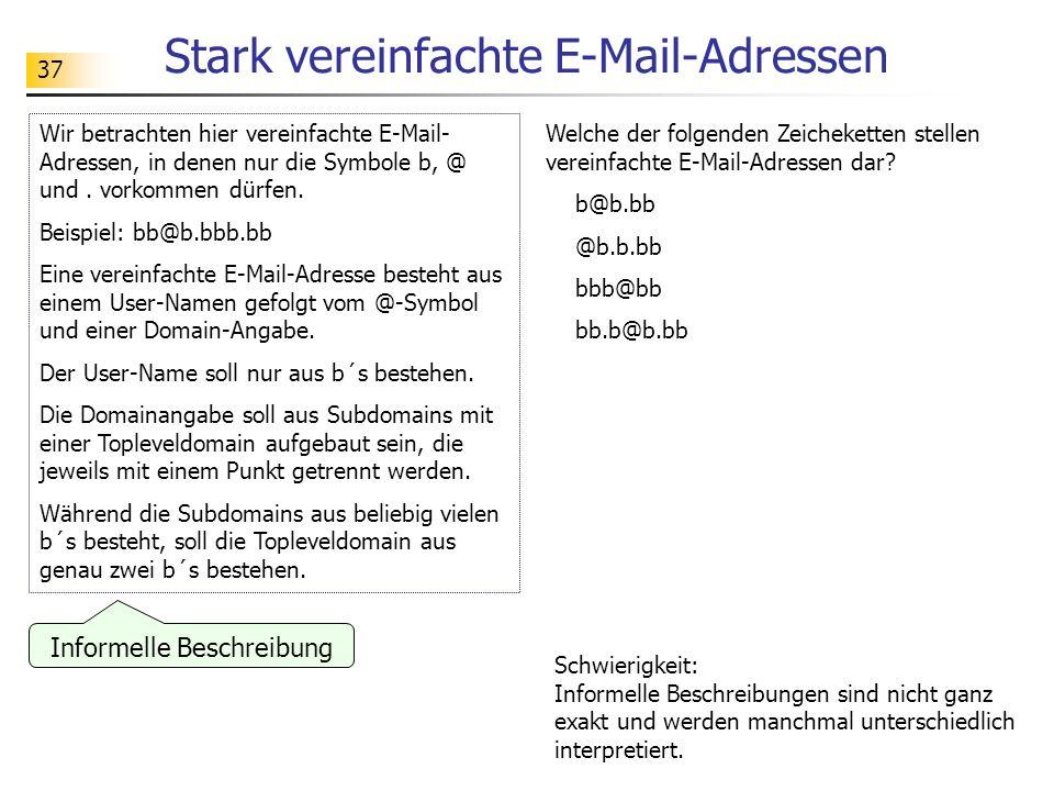 Stark vereinfachte E-Mail-Adressen