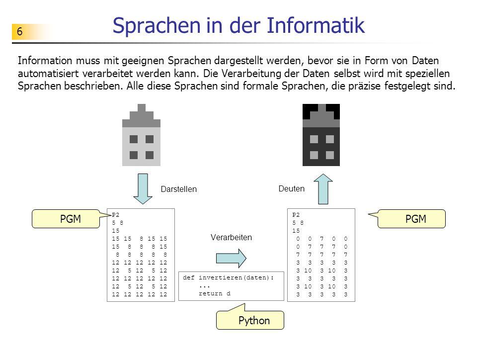 Sprachen in der Informatik