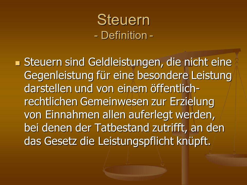 Steuern - Definition -