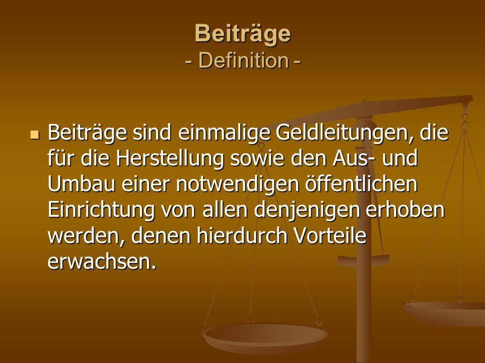Beiträge - Definition -