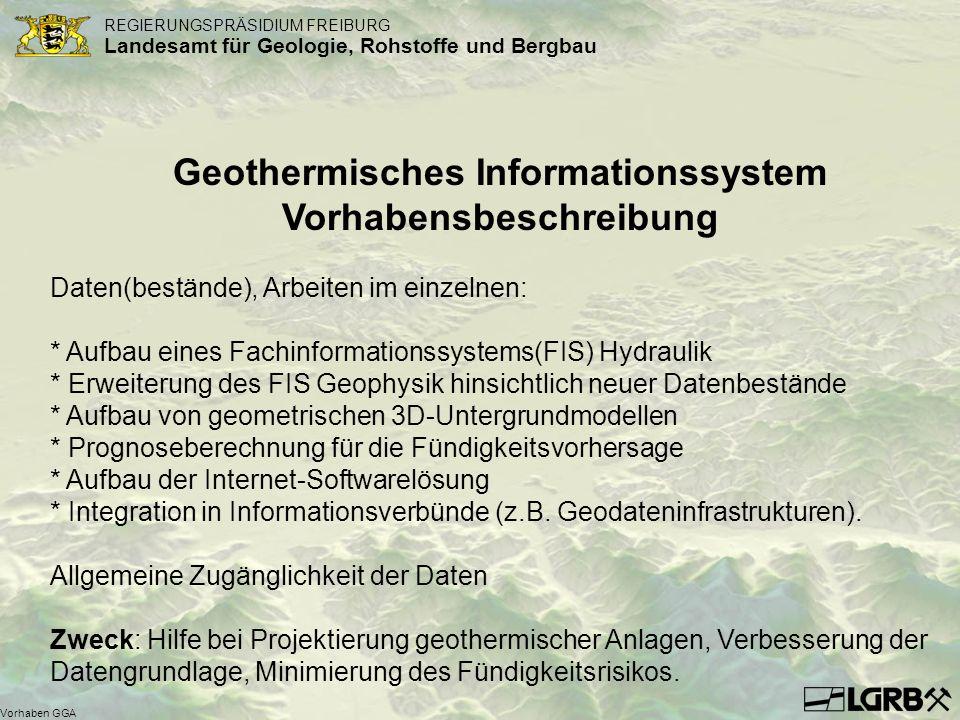 Geothermisches Informationssystem Vorhabensbeschreibung