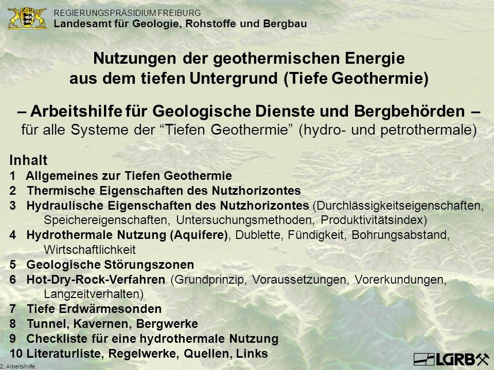 – Arbeitshilfe für Geologische Dienste und Bergbehörden –