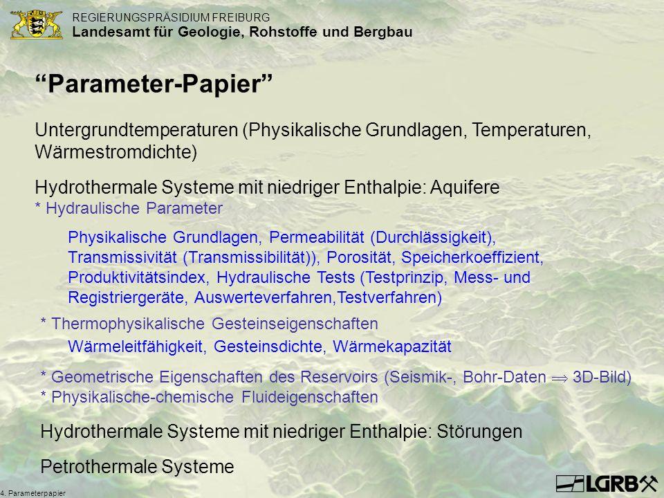 Titel des Vortrags Parameter-Papier Untergrundtemperaturen (Physikalische Grundlagen, Temperaturen, Wärmestromdichte)