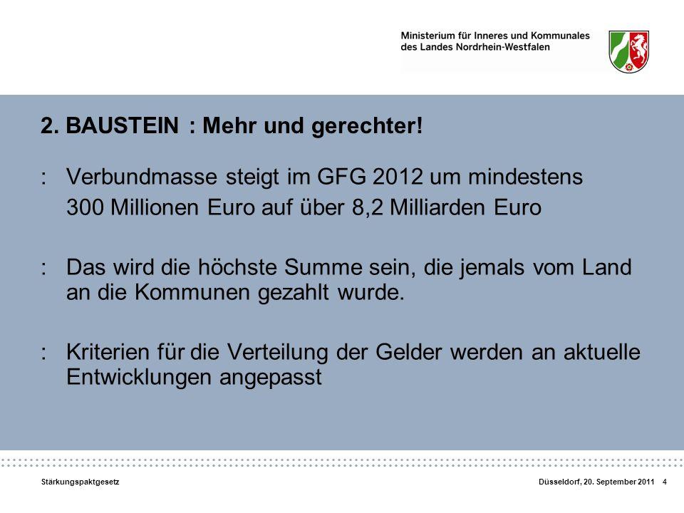 2. BAUSTEIN : Mehr und gerechter!