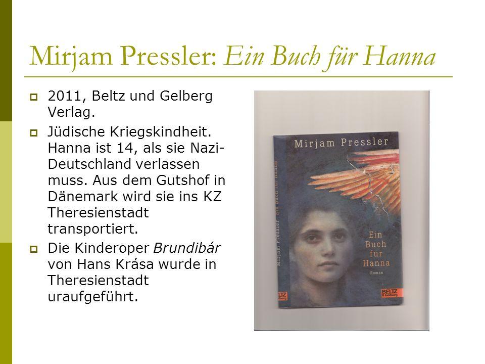 Mirjam Pressler: Ein Buch für Hanna