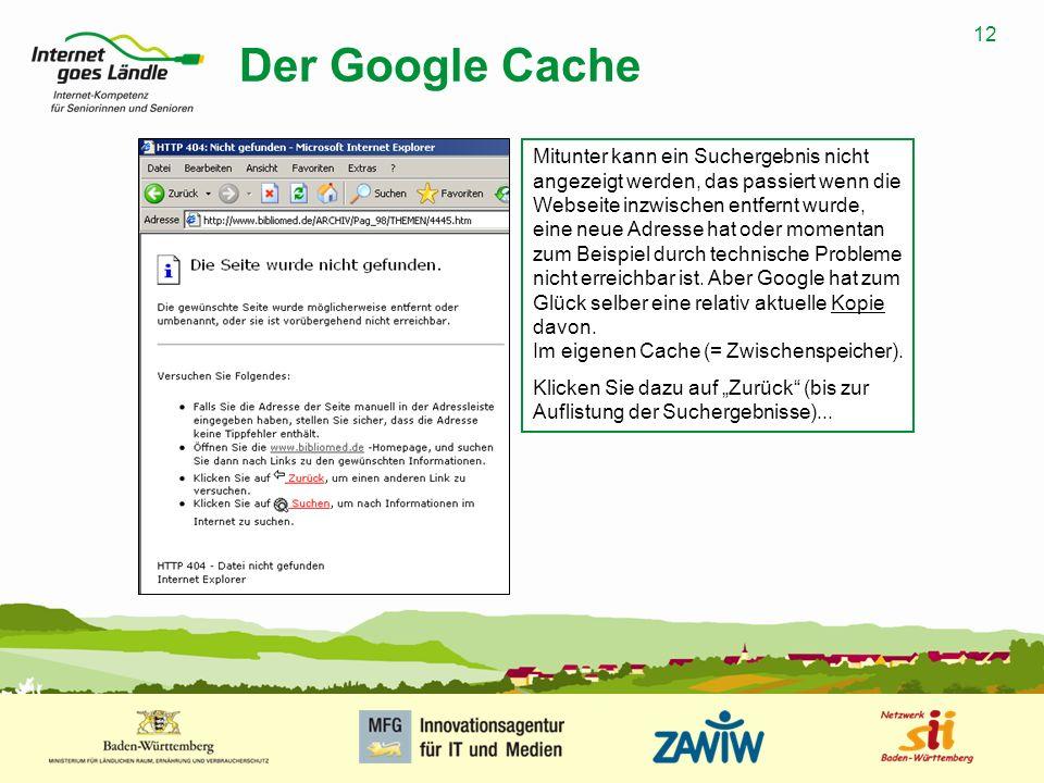 Der Google Cache