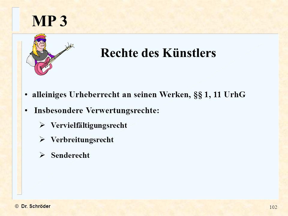 MP 3 Rechte des Künstlers