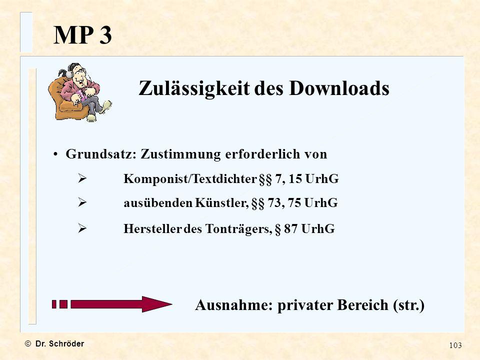 Zulässigkeit des Downloads Ausnahme: privater Bereich (str.)