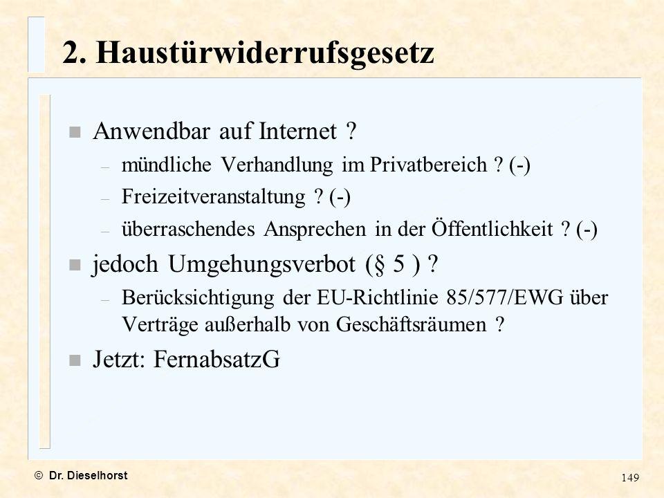 2. Haustürwiderrufsgesetz