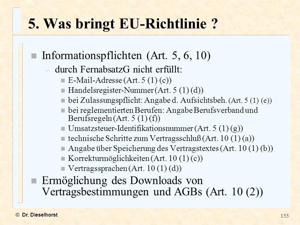 5. Was bringt EU-Richtlinie