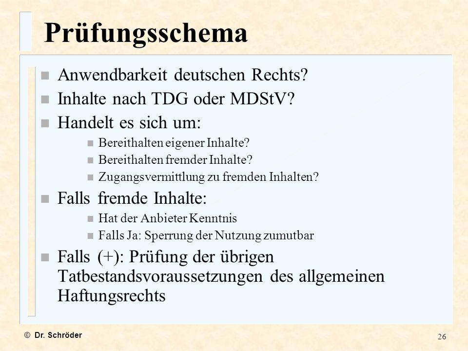 Prüfungsschema Anwendbarkeit deutschen Rechts