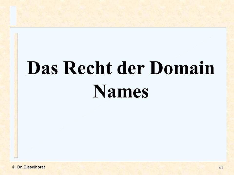 Das Recht der Domain Names