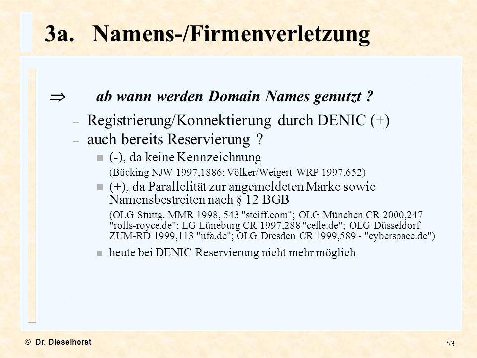 3a. Namens-/Firmenverletzung
