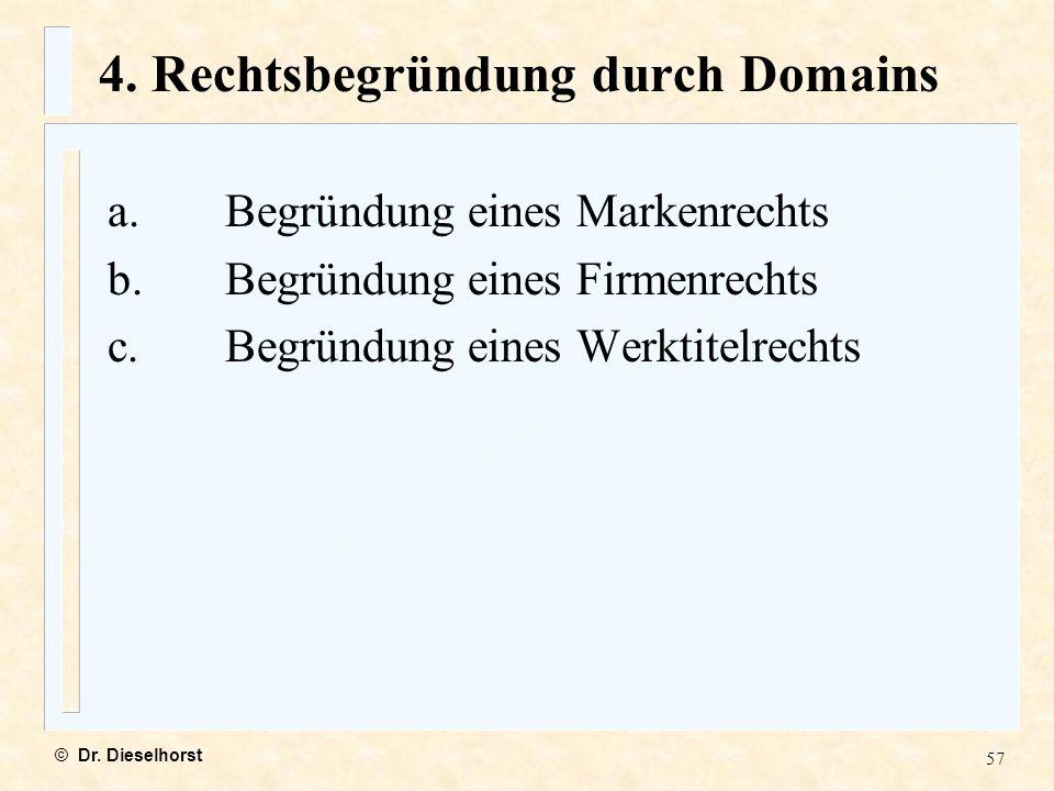 4. Rechtsbegründung durch Domains