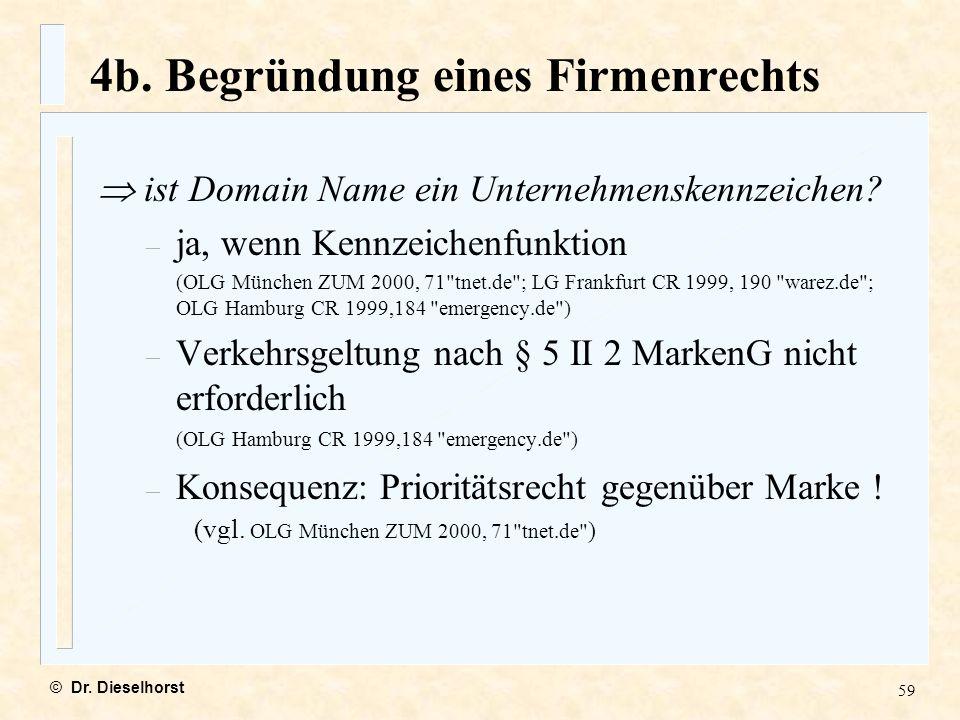 4b. Begründung eines Firmenrechts