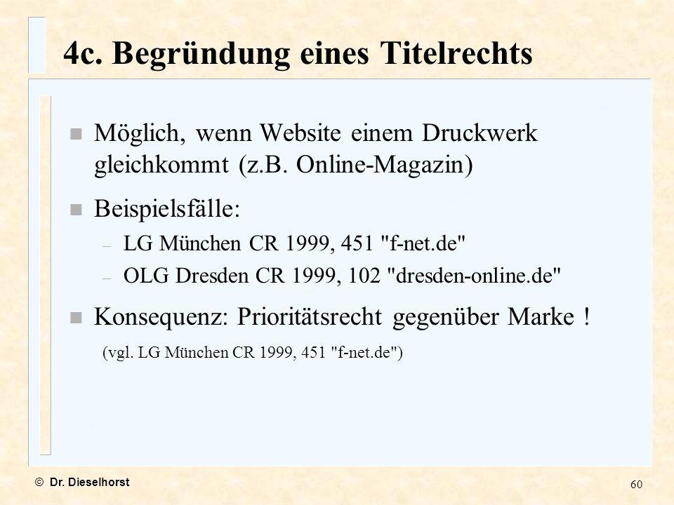 4c. Begründung eines Titelrechts