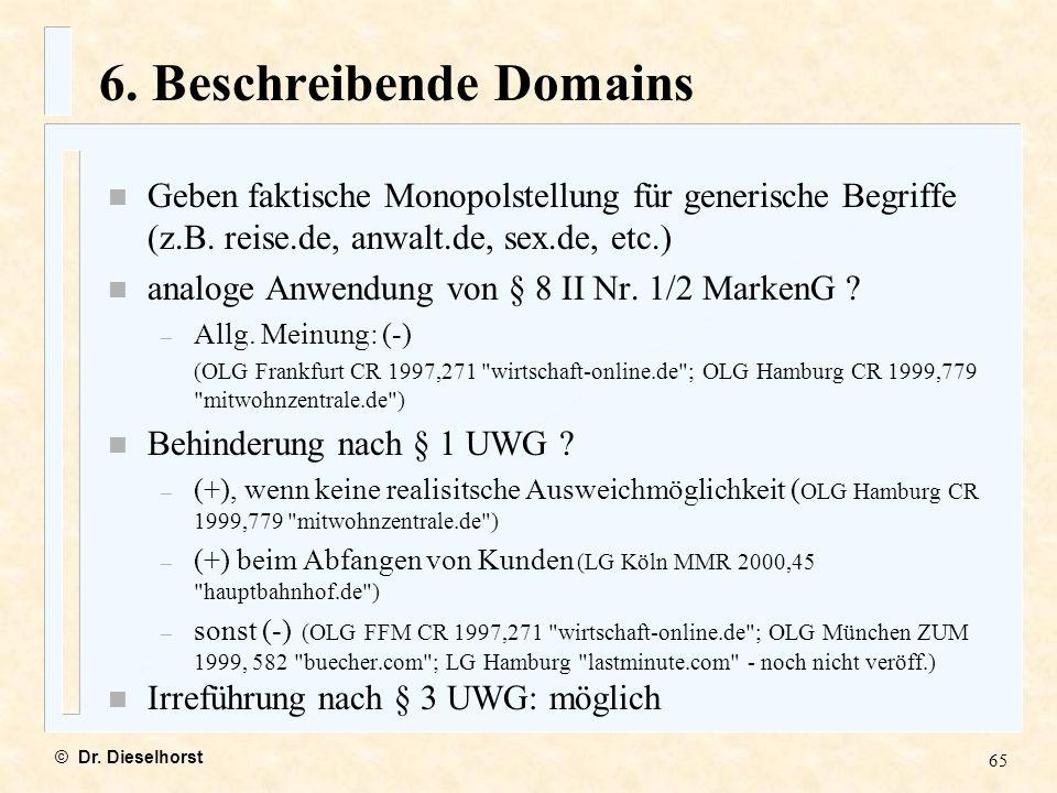 6. Beschreibende Domains