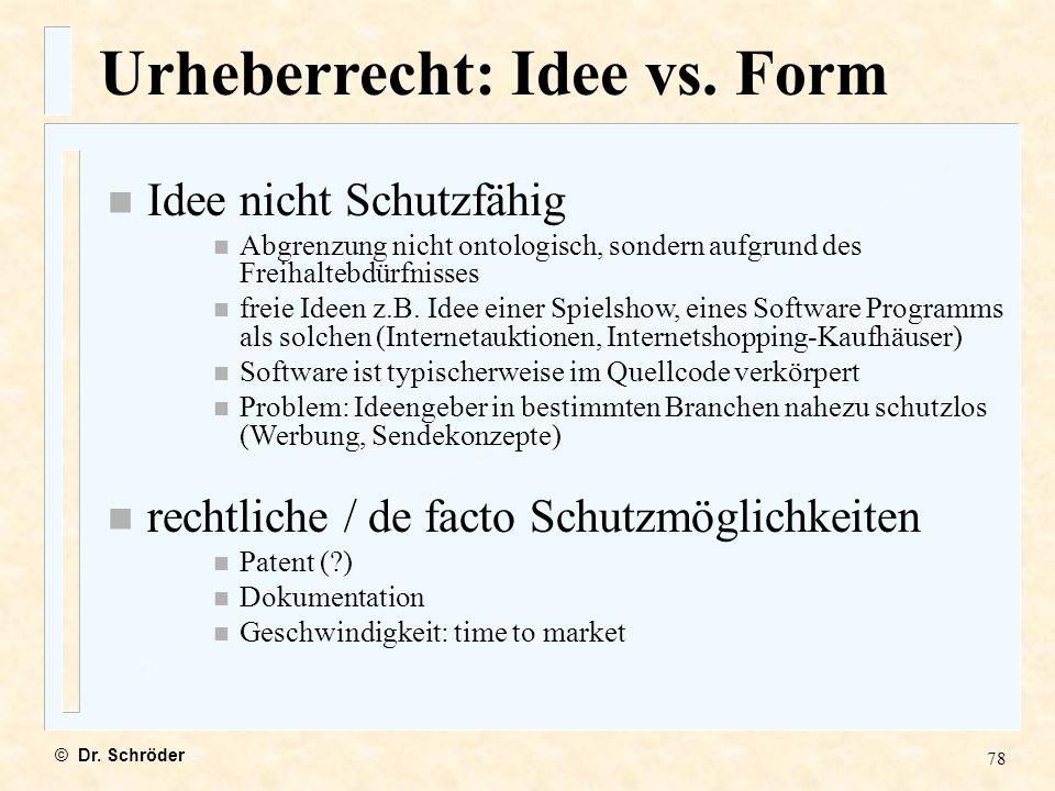 Urheberrecht: Idee vs. Form