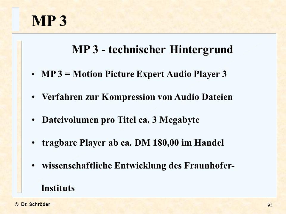 MP 3 - technischer Hintergrund