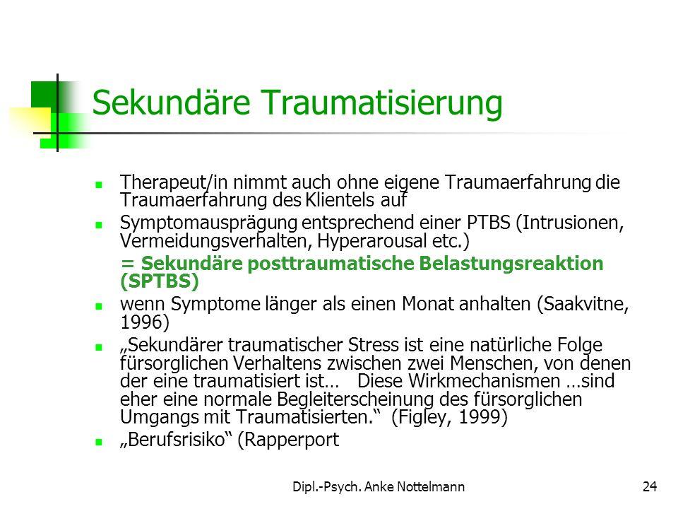 Sekundäre Traumatisierung