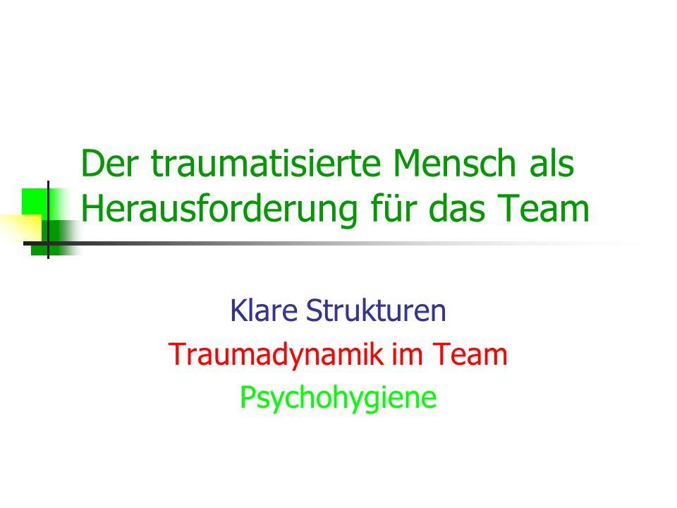 Der traumatisierte Mensch als Herausforderung für das Team