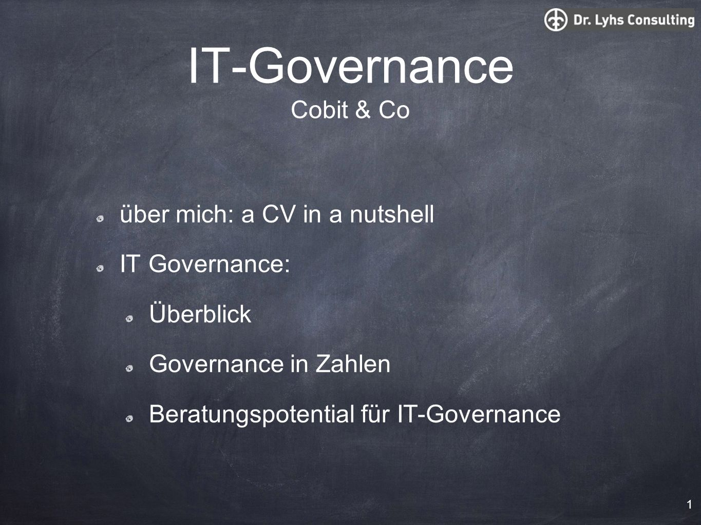 IT-Governance Cobit & Co
