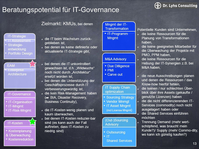 Beratungspotential für IT-Governance