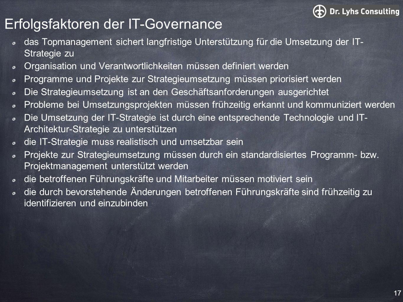 Erfolgsfaktoren der IT-Governance