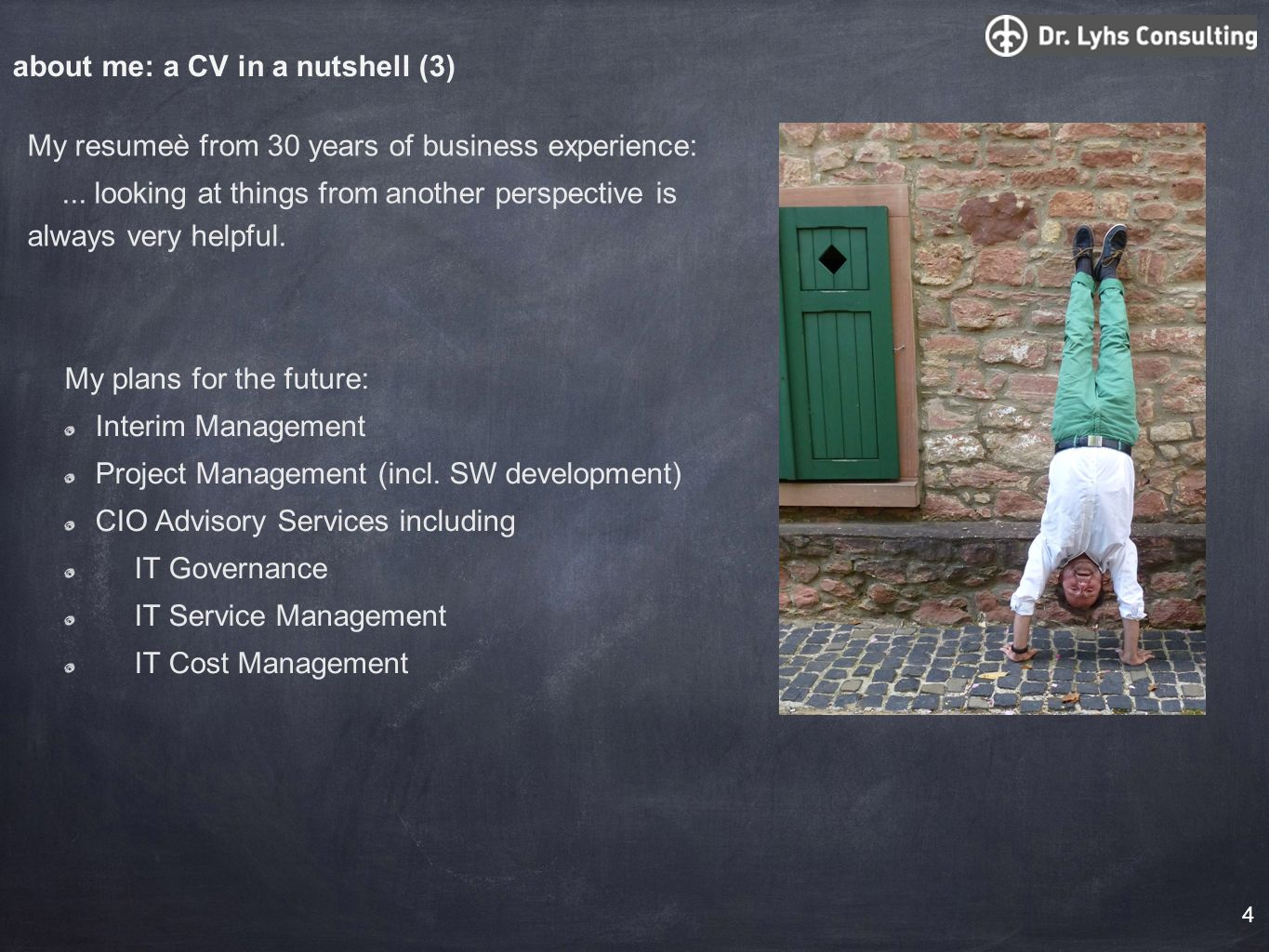 about me: a CV in a nutshell (3)