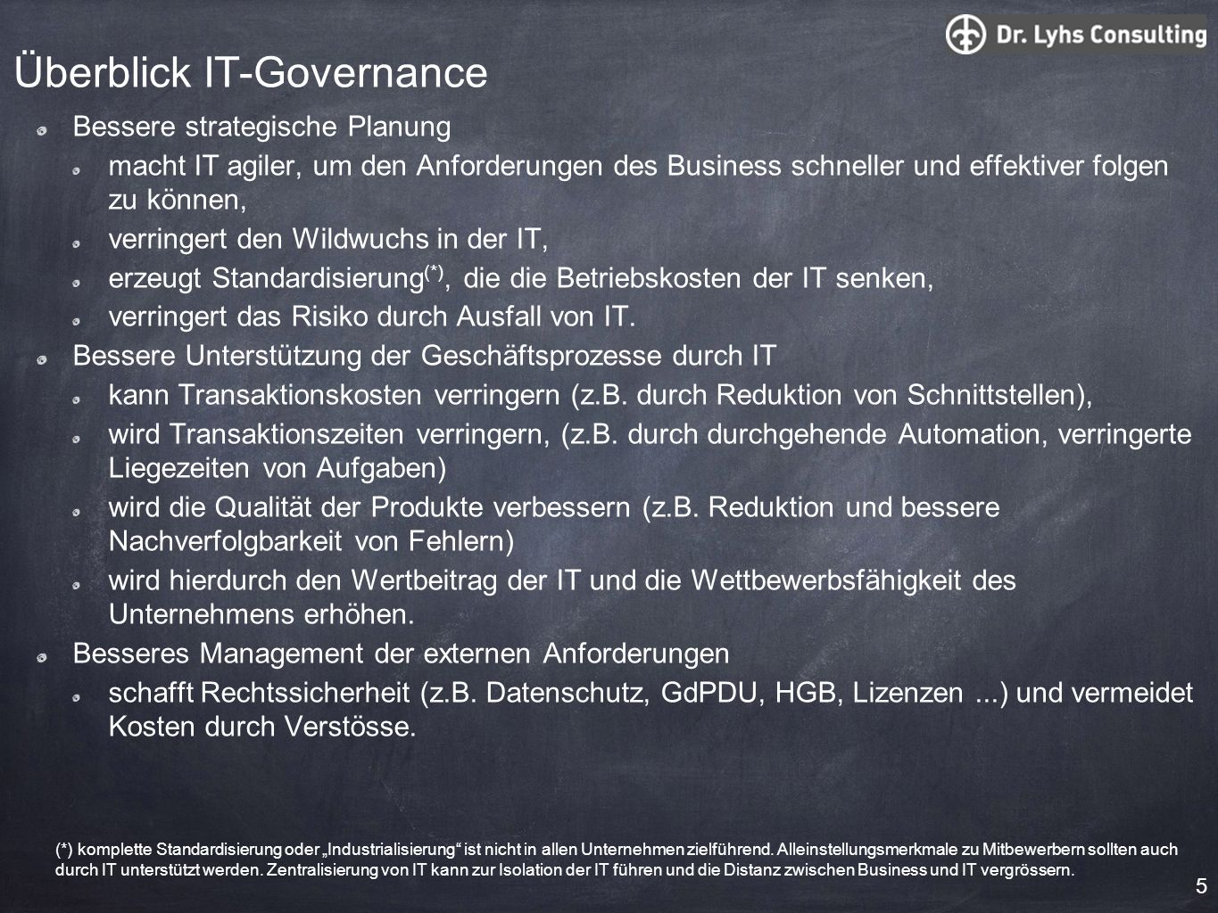 Überblick IT-Governance