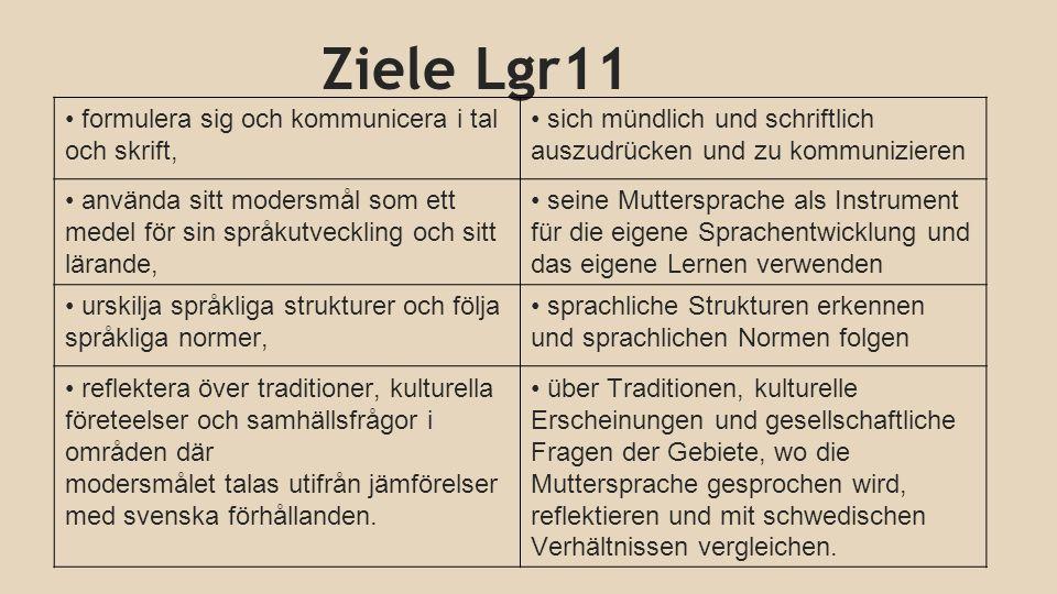 Ziele Lgr11 formulera sig och kommunicera i tal och skrift,