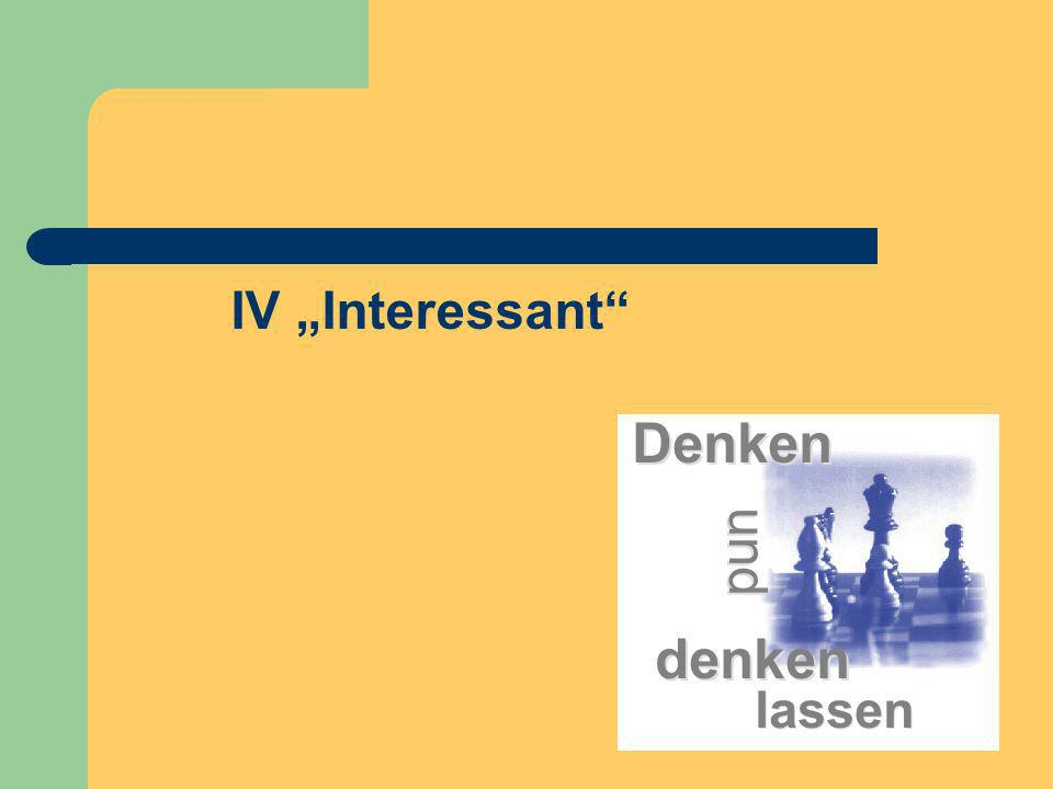 "IV ""Interessant"