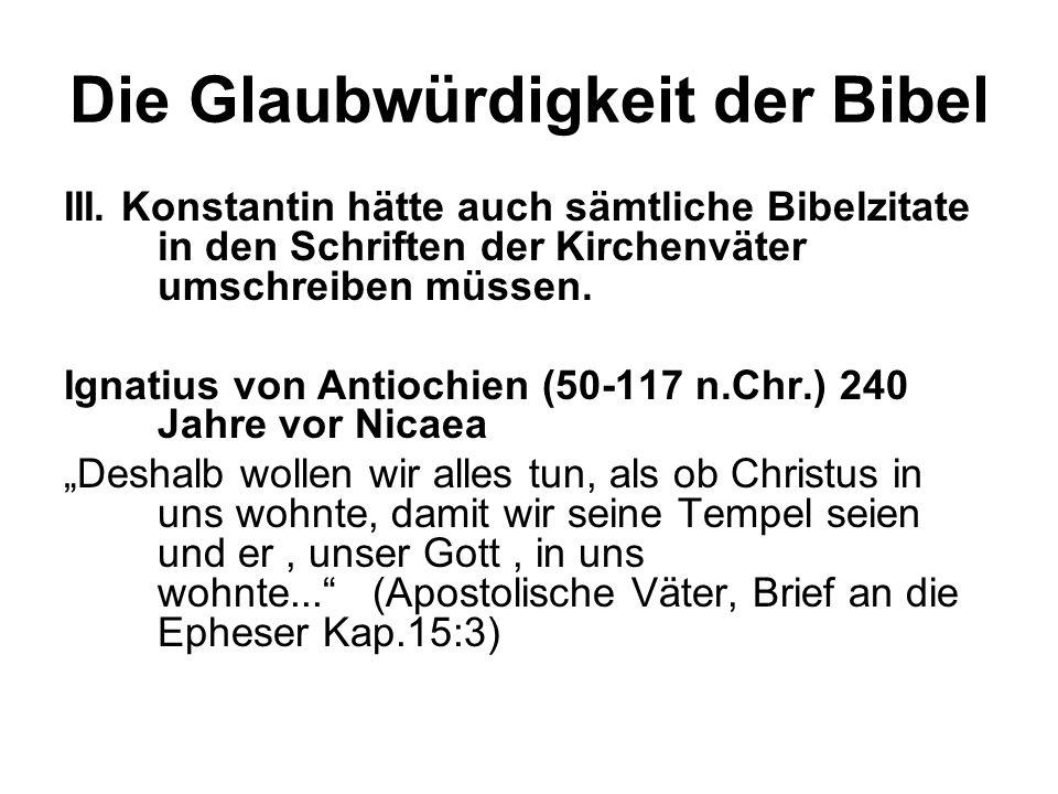 Die Glaubwürdigkeit der Bibel