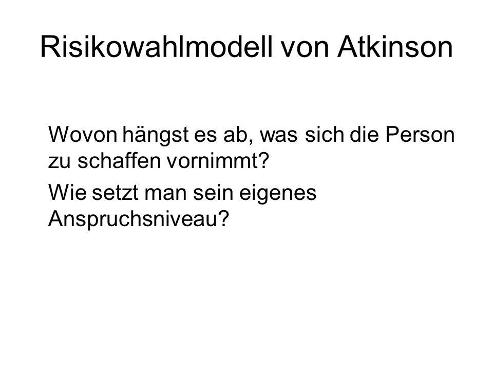 Risikowahlmodell von Atkinson