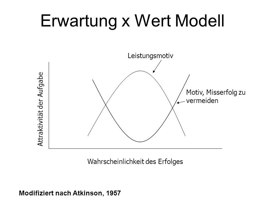 Erwartung x Wert Modell