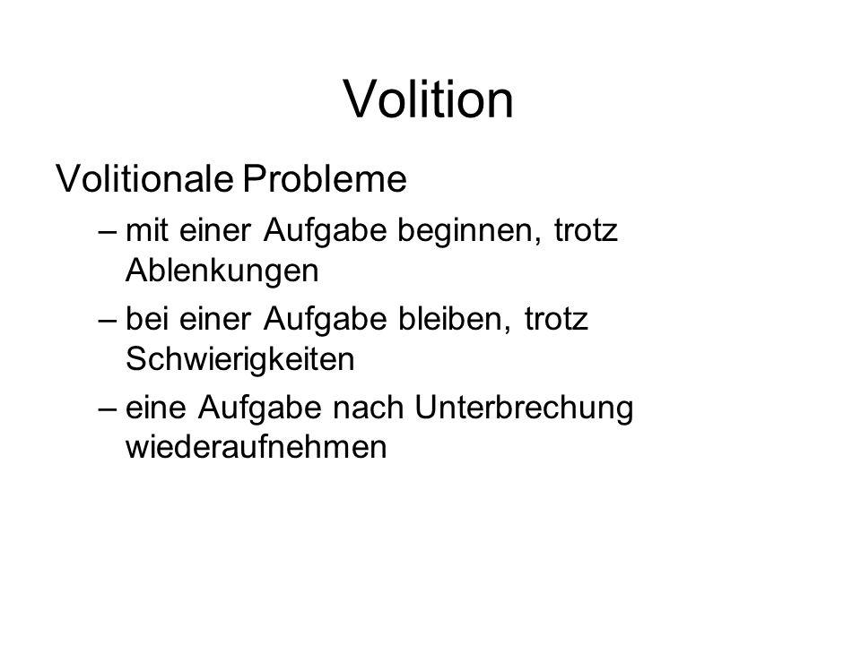 Volition Volitionale Probleme