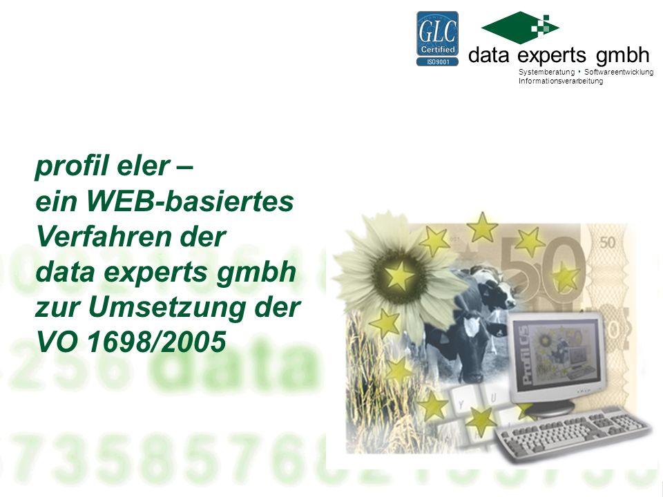 profil eler – ein WEB-basiertes Verfahren der data experts gmbh zur Umsetzung der VO 1698/2005