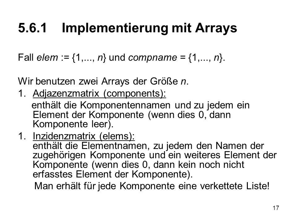 5.6.1 Implementierung mit Arrays