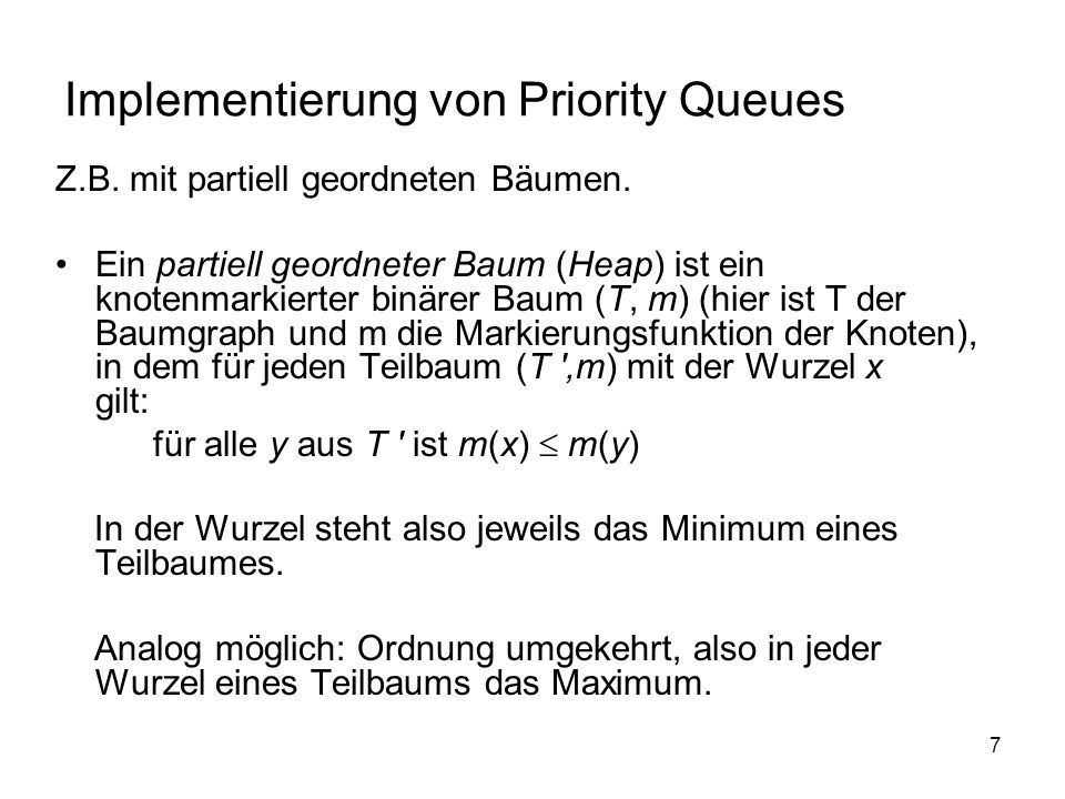 Implementierung von Priority Queues