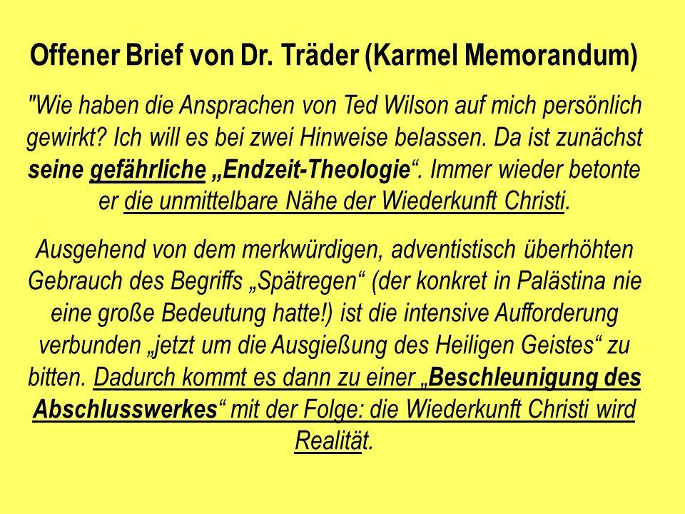 Offener Brief von Dr. Träder (Karmel Memorandum)