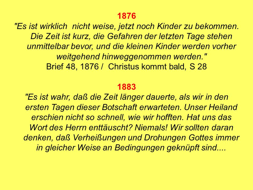Brief 48, 1876 / Christus kommt bald, S 28