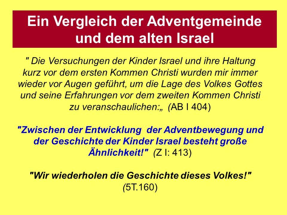 Ein Vergleich der Adventgemeinde und dem alten Israel