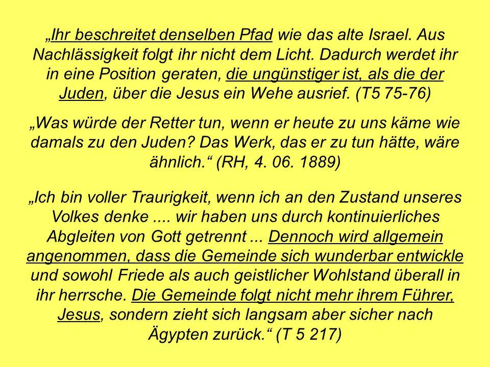 """""""Ihr beschreitet denselben Pfad wie das alte Israel"""
