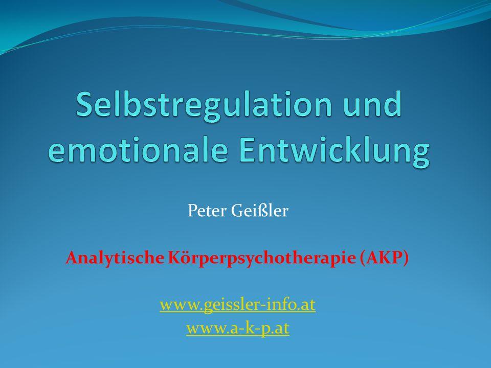 Selbstregulation und emotionale Entwicklung