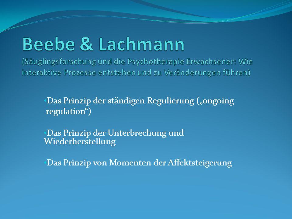 Beebe & Lachmann (Säuglingsforschung und die Psychotherapie Erwachsener: Wie interaktive Prozesse entstehen und zu Veränderungen führen)