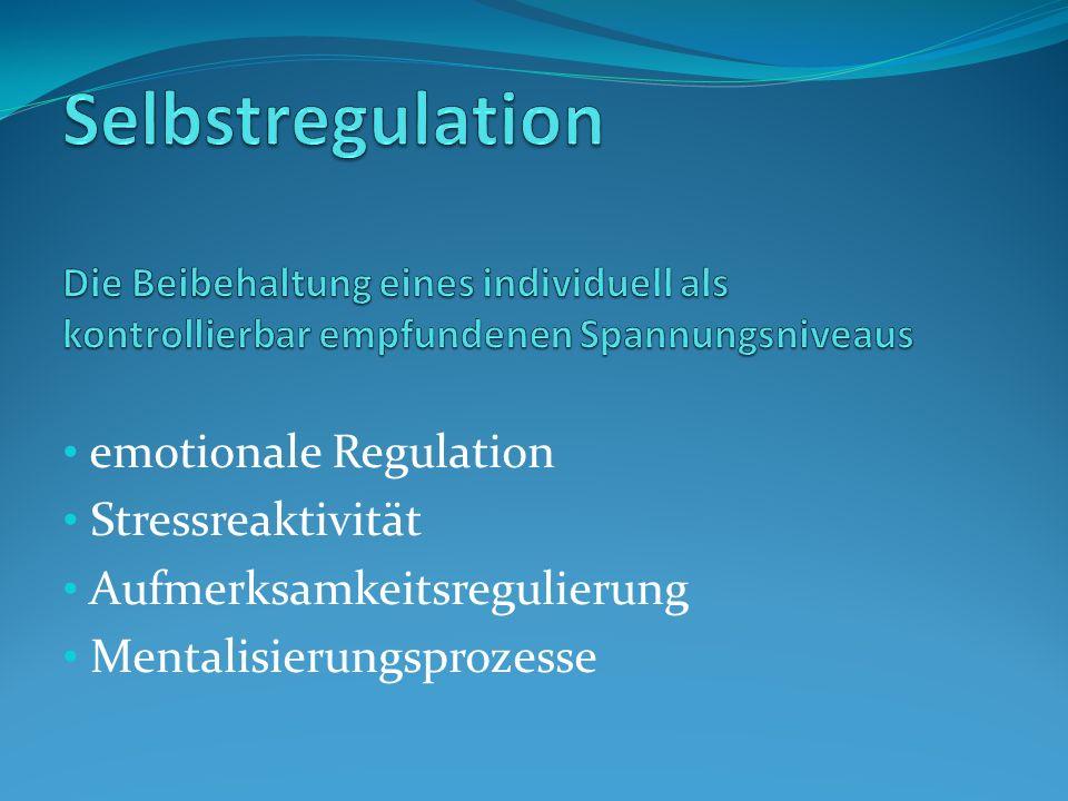 Selbstregulation Die Beibehaltung eines individuell als kontrollierbar empfundenen Spannungsniveaus