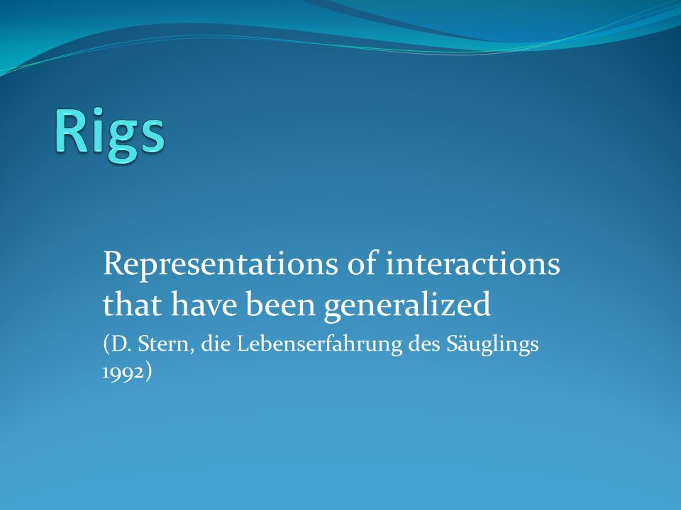 Rigs Representations of interactions that have been generalized