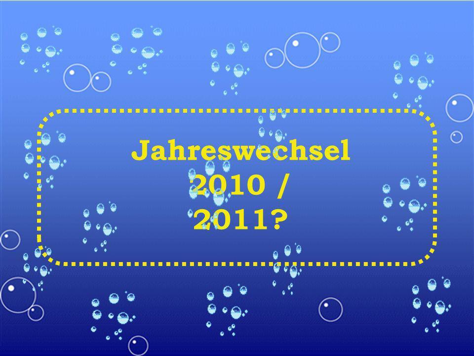 Jahreswechsel 2010 / 2011